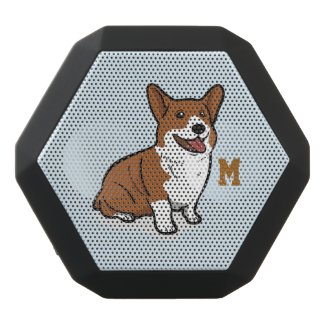 Monogram. Funny Cute Little Puppy Dog. Corgi.