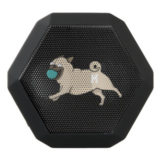 Monogram. Funny Cute Little Puppy Dog. Pug.