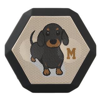 Monogram. Funny Cute Little Puppy Dog. Wiener Dog.
