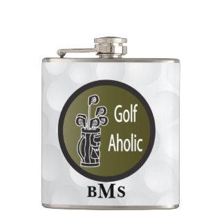 Monogram Funny Golf Aholic Hip Flask