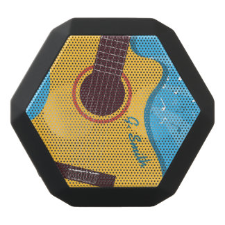 Monogram. Funny Guitar. Black Bluetooth Speaker