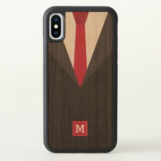 Monogram. Funny. Men's Black Tie Formal. iPhone X Case