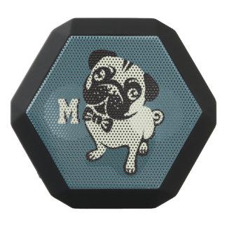 Monogram. Gentleman Pug with a Cute Bowtie.