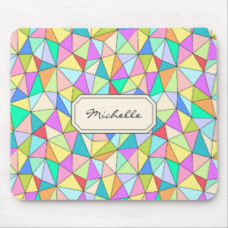 Monogram Geomertic Colorful Bright Mousepad