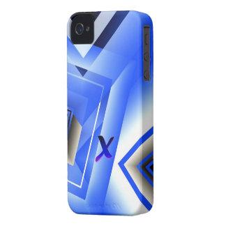 Monogram Geometric Blue iPhone 4 cover