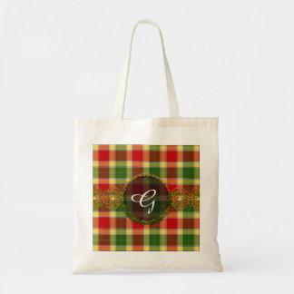 Monogram Gibson Tartan Tote Bag