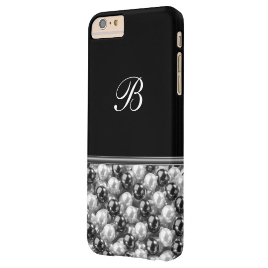 Monogram Glitter Style Barely There iPhone 6 Plus