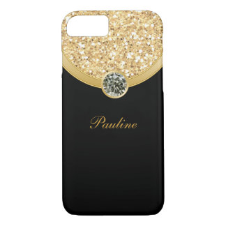 Monogram Glitter Style iPhone 8/7 Case