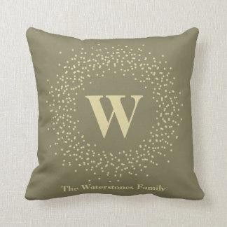 Monogram Glow Wreath Cushion
