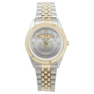Monogram Gold and Silver Look Watch