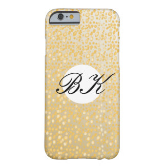 Monogram gold/cream/white with black text barely there iPhone 6 case