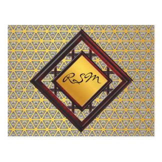 Monogram gold pattern postcard