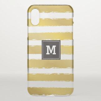 Monogram.Gold Stripes. iPhone X Case