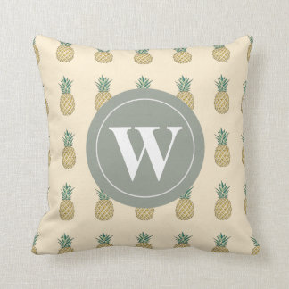 Monogram Golden Pineapple Cushion