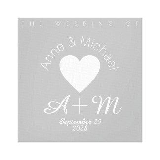 monogram gray love wedding decor