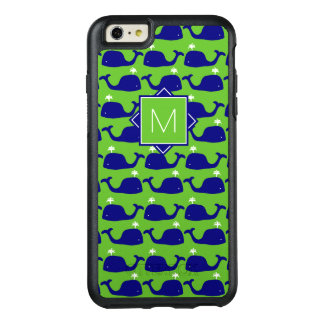Monogram | Green & Blue Whales OtterBox iPhone 6/6s Plus Case