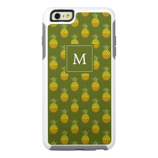 Monogram | Green & Gold Pineapples OtterBox iPhone 6/6s Plus Case