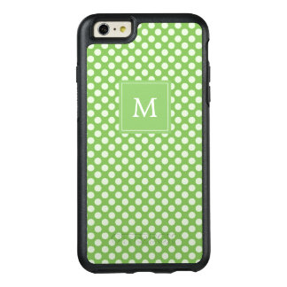 Monogram | Green Polka Dots OtterBox iPhone 6/6s Plus Case