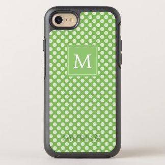 Monogram | Green Polka Dots OtterBox Symmetry iPhone 8/7 Case