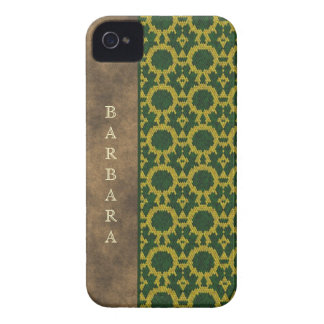 Monogram green yellow leather snake effect Case-M Case-Mate iPhone 4 Case