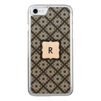Monogram Grey Crisscross Carved iPhone 8/7 Case