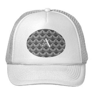 Monogram Grey damask Mesh Hats