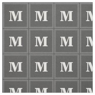 Monogram grey stripes fabric
