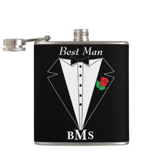 Monogram Groomsman Bachelor Party Flask