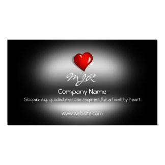 Monogram, Healthy Heart Fitness, metallic-effect Pack Of Standard Business Cards