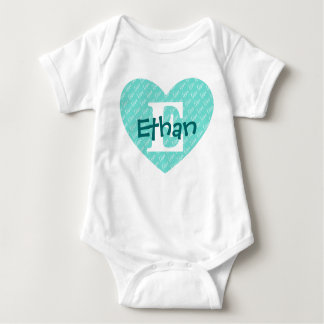 Monogram Heart Baby Bodysuit