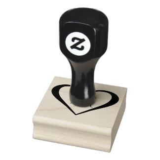 Monogram Heart Rubber Stamp