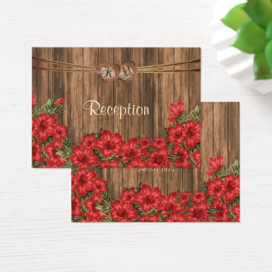 Monogram Heart with Red Lilies - Reception Business