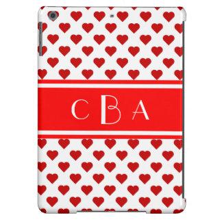 Monogram Hearts iPad Air Cover