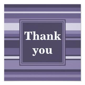 Monogram heather purple stripes 13 cm x 13 cm square invitation card