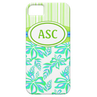 Monogram Hibiscus Flower iPhone 5 Case