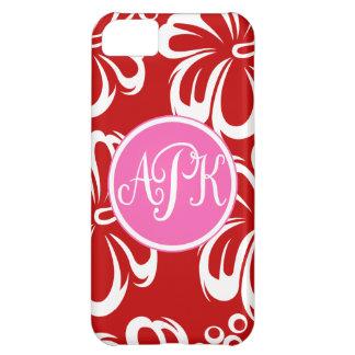 Monogram Hibiscus Flowers iPhone 5C Case
