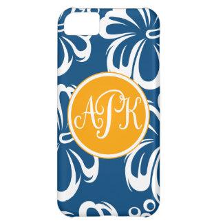 Monogram Hibiscus Flowers Cover For iPhone 5C