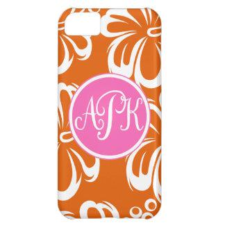 Monogram Hibiscus Flowers iPhone 5C Cases