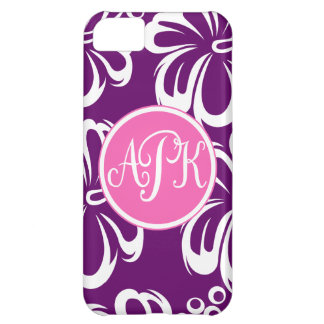 Monogram Hibiscus Flowers iPhone 5C Covers