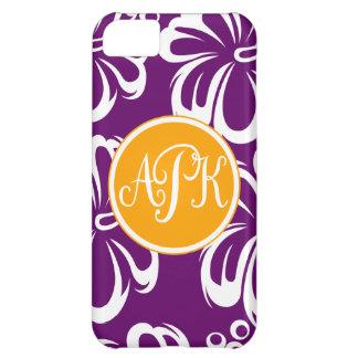 Monogram Hibiscus Flowers iPhone 5C Cover