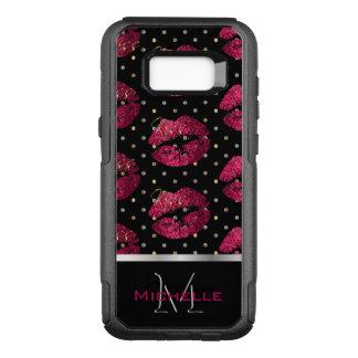 Monogram Hot Pink Lips OtterBox Commuter Samsung Galaxy S8+ Case