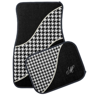 Monogram Houndstooth Pattern Car Mat