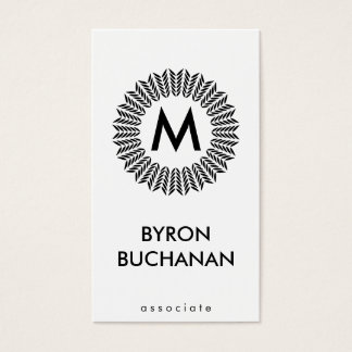 Monogram II | Radial | Texture Business Card