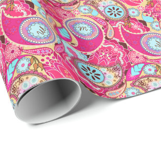 Monogram in Paisley MIP/4 Wrapping Paper