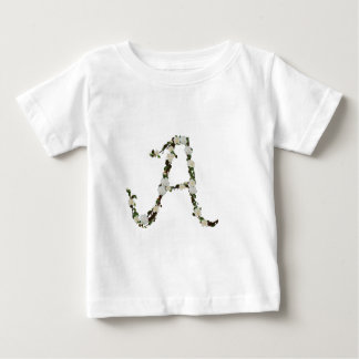 Monogram in white rose wreath baby T-Shirt
