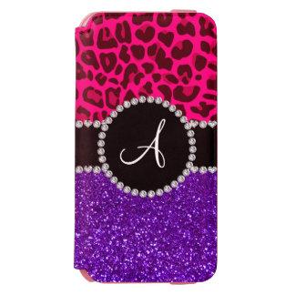 Monogram indigo purple glitter neon pink leopard incipio watson™ iPhone 6 wallet case