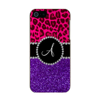 Monogram indigo purple glitter neon pink leopard incipio feather® shine iPhone 5 case