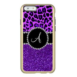 Monogram indigo purple glitter neon purple leopard incipio feather® shine iPhone 6 case