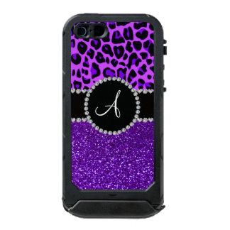 Monogram indigo purple glitter neon purple leopard incipio ATLAS ID™ iPhone 5 case