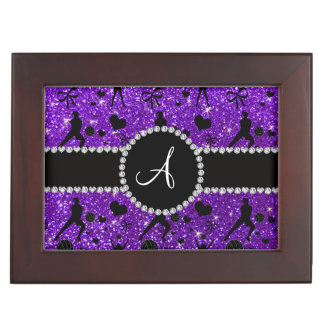 Monogram indigo purple glitter volleyball players memory box